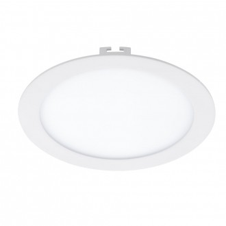 EGLO 94063 | Fueva_1 Eglo ugradna LED panel okrugli Ø225mm 1x LED 1600lm 3000K belo