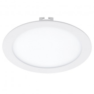 EGLO 94066 | Fueva_1 Eglo ugradna LED panel okrugli Ø225mm 1x LED 2080lm 4000K belo