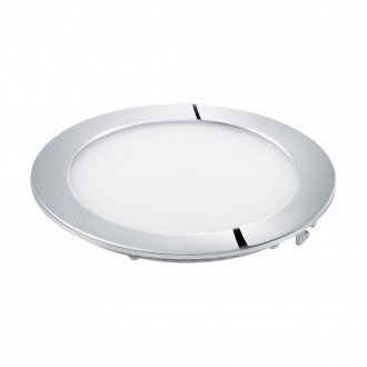 EGLO 96245 | Fueva-1 Eglo ugradna LED panel okrugli Ø170mm 1x LED 1350lm 4000K IP44 krom