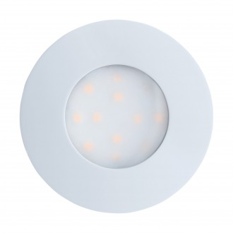 EGLO 96414 | Pineda-IP Eglo ugradna lampa Ø78mm 1x LED 500lm 3000K IP44 belo, opal