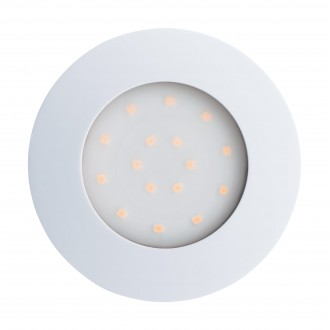 EGLO 96416 | Pineda-IP Eglo ugradna lampa Ø102mm 1x LED 1000lm 3000K IP44 belo, opal