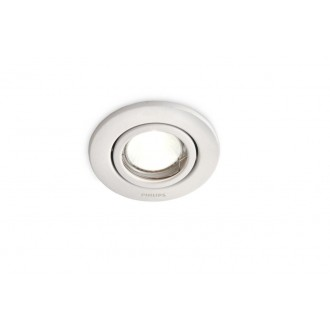 PHILIPS 01796/31/PN | Fresco Philips ugradna lampa pomerljivo Ø100mm 1x GU10 IP23 belo