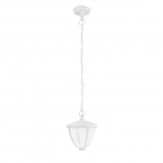 PHILIPS 15476/31/16 | Robin Philips visilica lampa 1x LED 430lm 2700K IP44 belo, providno