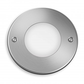 PHILIPS 17306/47/16 | Moss Philips ugradna lampa Ø114mm 1x LED 270lm 2700K IP67 inox