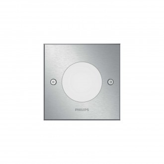 PHILIPS 17356/47/P0 | Crust Philips ugradna lampa četvrtast 115x115mm 1x LED 270lm 2700K IP67 inox