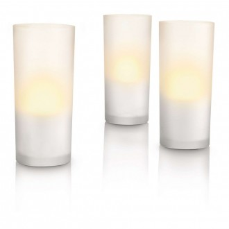 PHILIPS 69108/60/PH | CandleLights Philips dekoracija lampa trodelni set 3x LED 5lm 2700K IP65 belo