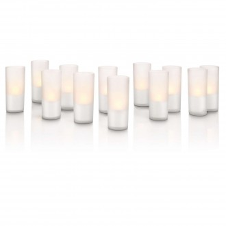 PHILIPS 69133/60/PH | CandleLights Philips dekoracija lampa set od 12 komada 12x LED 5lm 2800K IP65 providno