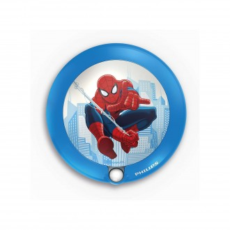 PHILIPS 71765/40/16 | Spiderman Philips LED noćno svetlo lampa sa senzorom 1x LED 5lm 3000K plavo, višebojno