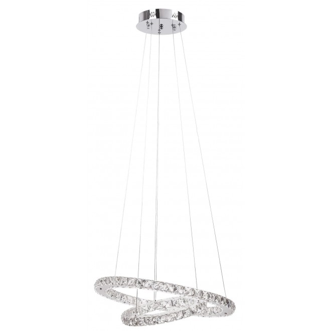 RABALUX 2442 | Carrie Rabalux visilica lampa 1x LED 2700lm 4000K krom, providno